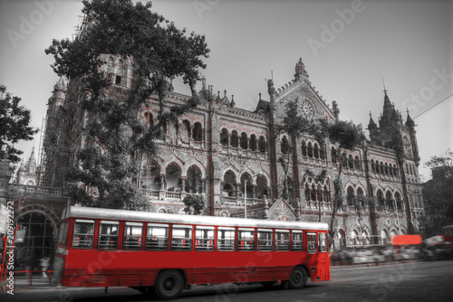 Poster Londres bus rouge Chhatrapati Shivaji