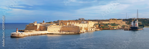 Poster Vestingwerk Panoramic view of Fort Ricasoli in Malta