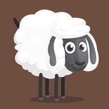 Cute Cartoon Sheep Mascot Char...