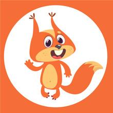 Cute Cartoon Squirrel Presenti...