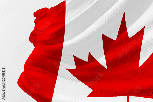 Fotobehang Canada Isolated Canada Flag waving 3d Realistic fabric
