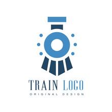 Train Logo Original Design, Railway Transport Badge Vector Illustration