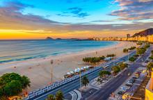 Sunrise View Of Copacabana Bea...