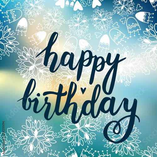 Happy Birthday vector card Canvas Print