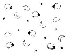 Cute Night Seamless Pattern Ba...