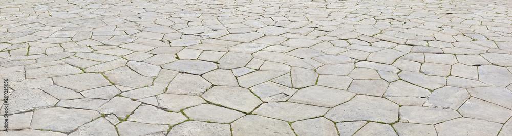 Fototapeta Schönes mittelalterliches Strassenpflaster