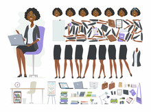 African Businesswoman - Vector...