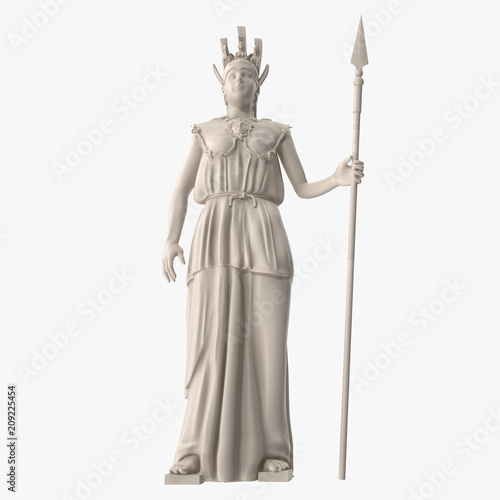 Standing Statue of Athena Front View Canvas Print