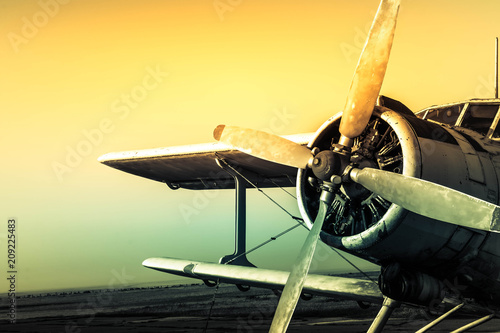 Leinwand Poster Old plane