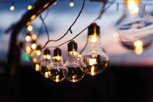 Little Yellow Lamps Shine In T...