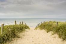 Dutch Coastal Area With Sand, ...