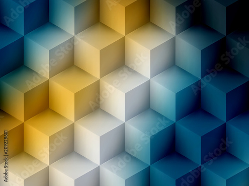 yellow-blue-cubic-abstract-background-soft-graphic-illustration