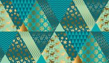 Luxury Xmas Patchwork Seamless Pattern