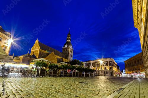 Fotografie, Obraz  Riga di notte