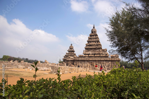 Outer view of the Shore Temple, built in 700 728 AD, Mahabalipuram Slika na platnu