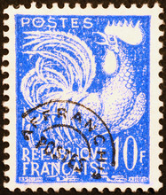 Cock On A Vintage French Posta...