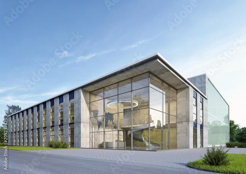 Obraz Geschäftsgebäude 2 am Tag - fototapety do salonu
