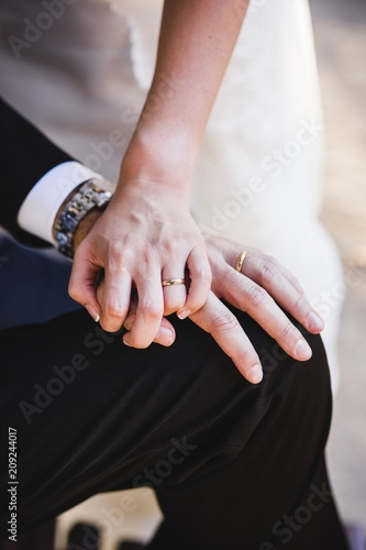 Newly married couple after their wedding  - Buy this stock