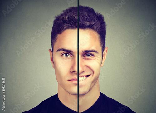 Obraz na płótnie Man with double face expression