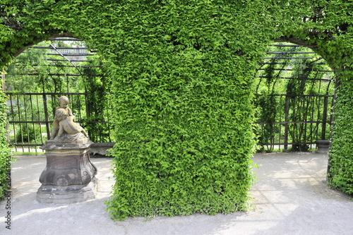 Foto  Garden around the Residenz palace in Wurzburg, Germany