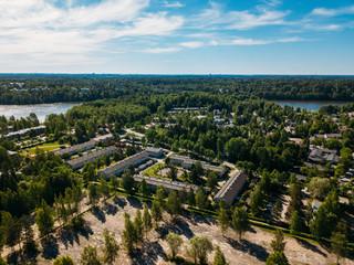 Fototapeta na wymiar Aerial view to Espoo city, Finland