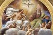 canvas print picture - PARMA, ITALY - APRIL 16, 2018: The ceiling freso of The Holy Trinity in church Chiesa di Santa Croce by Giovanni Maria Conti della Camera (1614 - 1670).