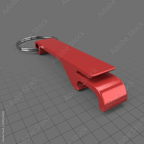 Promotional bottle opener  Buy this stock 3d asset and