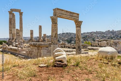Giordania, Amman, monumenti antica cittadella Wallpaper Mural