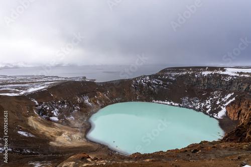 Leinwand Poster Viti crater Iceland