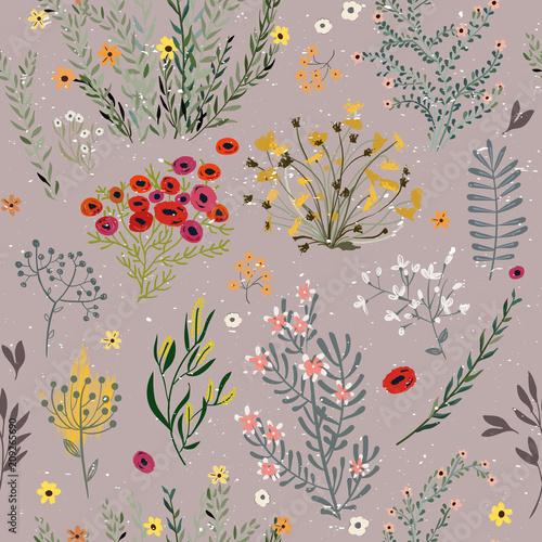 wzor-z-kwiatami-doodle