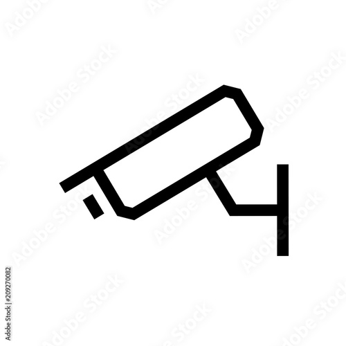 Cctv Camera Line Icon Outline Vector Sign Linear Style Pictogram