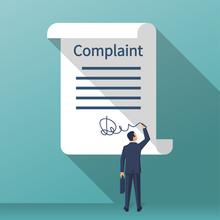 Complaint Concept. Man Wrote A...