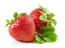 Fresh Red Strawberries With Gr...