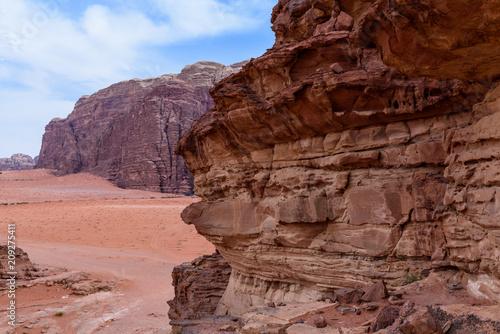 Papiers peints Marron Giordania, deserto di Wadi Rum