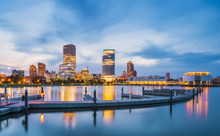 Milwaukee Skyline At Night Wit...
