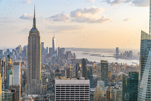 Keuken foto achterwand New York new york skyline in the evening.