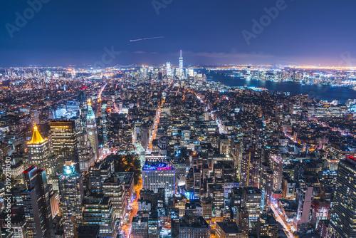 Fotografie, Tablou  28-08-17,newyork,usa: new york skyline at night
