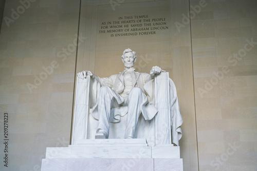 фотография  Lincoln Memorial in the National Mall, Washington DC.