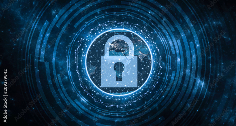 Fototapeta Global Security concept GDPR