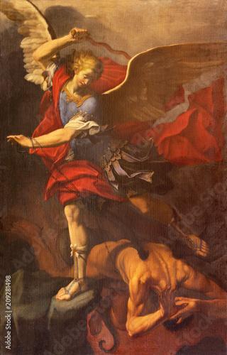 Photo REGGIO EMILIA, ITALY - APRIL 12, 2018: The painting of Michael Archangel in Duomo church by Orazio Talami (1624 – 1708)