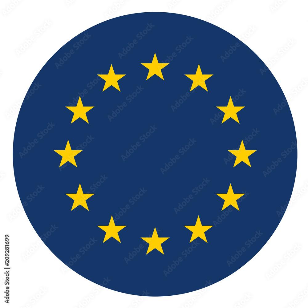 Fototapeta europe circle icon