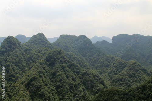 Mountain scenery in hunan, China