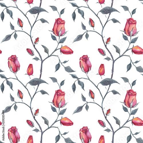 roze-recznie-rysowane-kwiatowy-wzor-akwarela-ilustracja-styl-vintage