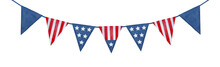 String Of American Flag Decora...