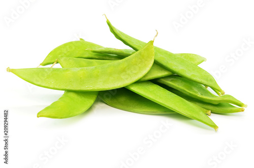 Fototapeta Pile of fresh snap peas obraz