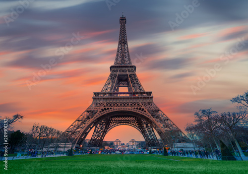 Foto auf AluDibond Eiffelturm Eiffel tower - Paris, France