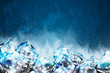 Frosty ice cubes background