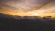 Dunedin City sunrise view from drone