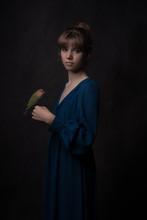Girl With Lovebird