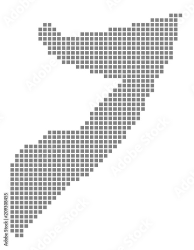 Pixel map of Somalia. Vector dotted map of Somalia isolated on white ...